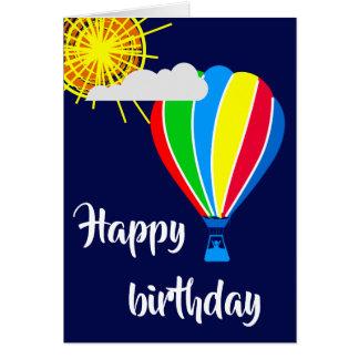 Cartes Ballon à air chaud - joyeux anniversaire