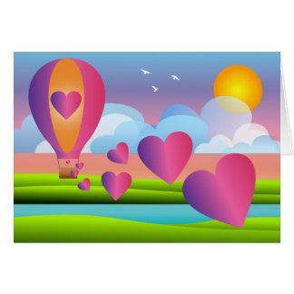 Cartes Ballon d'amour : Fiançailles heureux