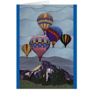 Cartes Ballons à air chauds en verre souillé