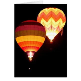 Cartes Ballons à air chauds la nuit