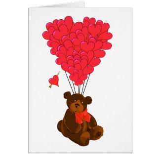 Cartes Ballons d'ours et de coeur de nounours