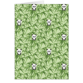Cartes Bambou avec des pandas