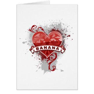 Cartes Banane de coeur