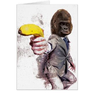 Cartes Banane drôle de singe de costume de gorille de