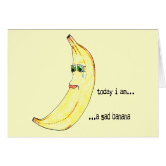 Cartes Banane triste