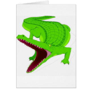 Cartes bande dessinée d'alligator