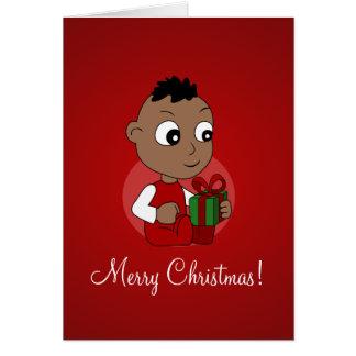 Cartes Bande dessinée de bébé de Noël