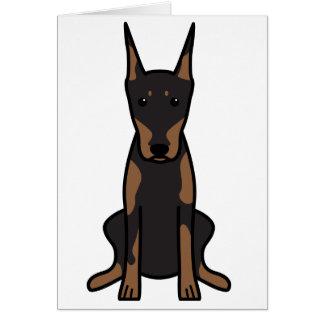 Cartes Bande dessinée de chien de Pinscher de dobermann
