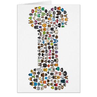 Cartes Bande dessinée de chien d'OS