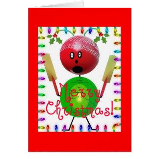 Cartes Bande dessinée de Noël de grillon