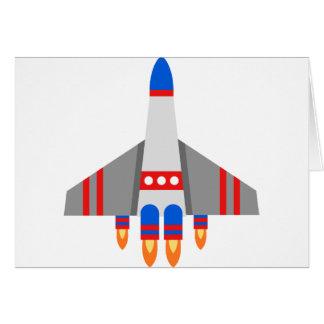 Cartes Bande dessinée de vaisseau spatial
