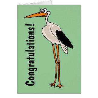 Cartes Bande dessinée drôle de cigogne de CB