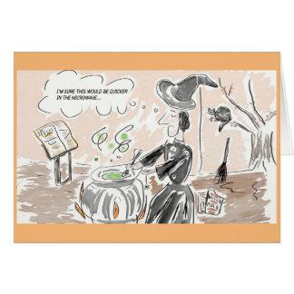 Cartes Bande dessinée drôle de sorcière/carte de voeux