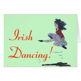 Cartes Bande dessinée irlandaise traditionnelle de danse