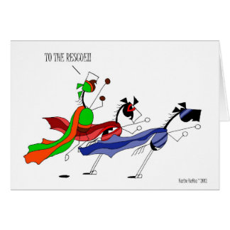 Cartes Bande dessinée mignonne de cheval de super héros