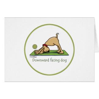 Cartes Bande dessinée orientée vers le bas de chien