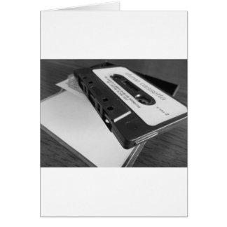 Cartes Bande vintage de cassette audio sur la table en