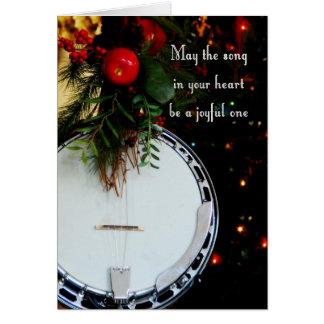 Cartes Banjo joyeux de vacances de chanson de Joyeux Noël