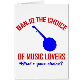 Cartes Banjo le choix des mélomanes