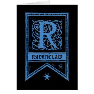 Cartes Bannière de monogramme de Harry Potter | Ravenclaw