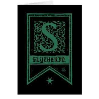 Cartes Bannière de monogramme de Harry Potter | Slytherin