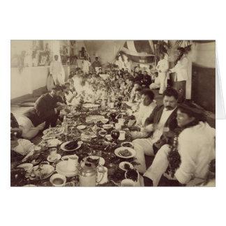 Cartes Banquet royal à la péniche du Roi Kalakana's,
