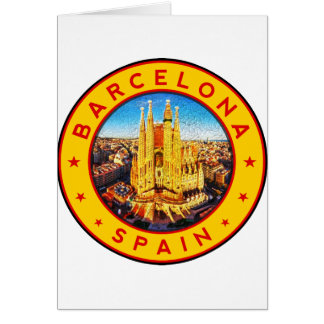 Cartes Barcelone, Spain, circle, yellow