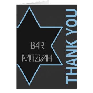 Cartes Barre moderne Mitzvah de Merci