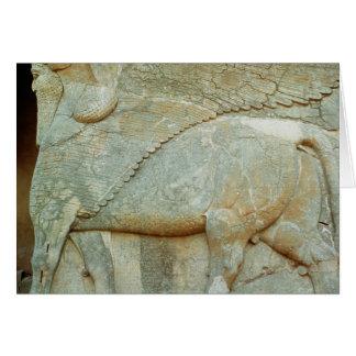Cartes Bas-soulagement d'un taureau anthropomorphe