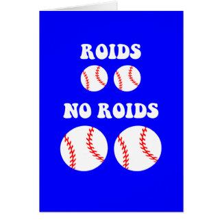 Cartes Base-ball drôle de stéroïdes