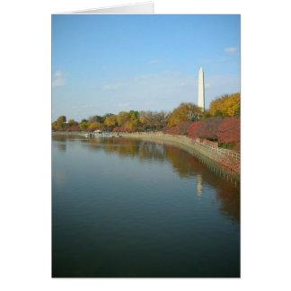 Cartes Bassin de marée et monument de Washington