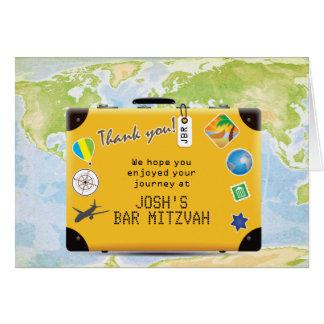 Cartes Bat mitzvah orienté de barre de voyage du monde de