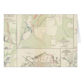 Cartes Bataille de bayou Fourche de Corinthe Iuka
