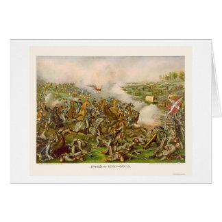Cartes Bataille de cinq fourchettes, VA 1865