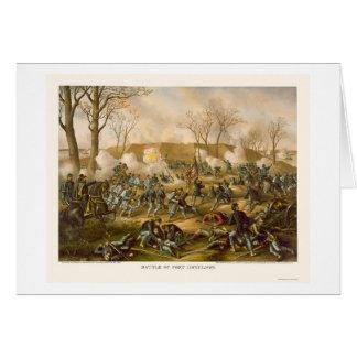 Cartes Bataille de fort Donelson par Kurz et Allison 1862