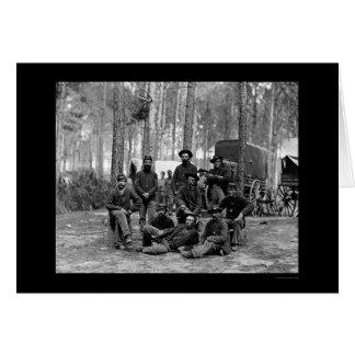 Cartes Bataillon 1864 d'ingénieur des USA