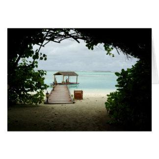 Cartes Bateau d'île des Maldives