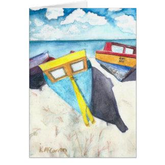 Cartes Bateaux dans Aruba Sun, copie d'aquarelle sur la
