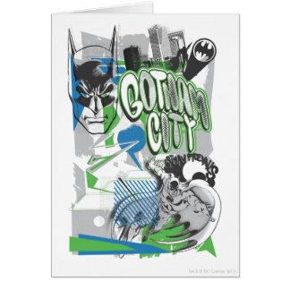 Cartes Batman - affiche absurde de collage
