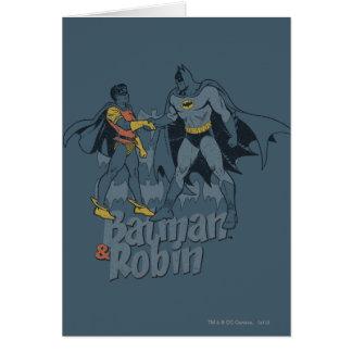 Cartes Batman et graphique affligé par Robin