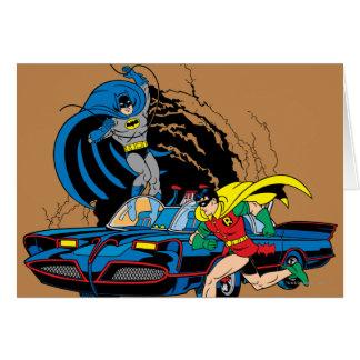 Cartes Batman et Robin dans Batcave