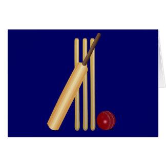 Cartes Batte et boule de cricket