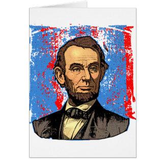 Cartes Beau portrait d'Abraham Lincoln