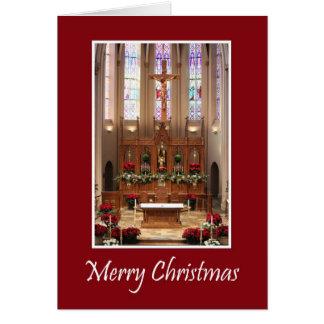 Cartes Beau sanctuaire de Noël de St Mary
