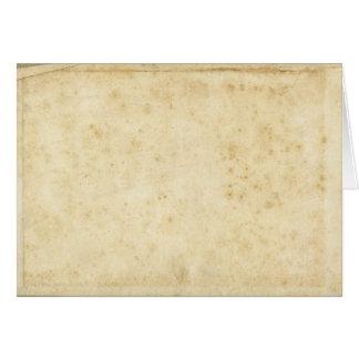 Cartes Beau vieux papier vide antique souillé rustique
