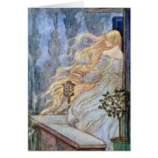 Cartes Beauté blonde Rapunzel