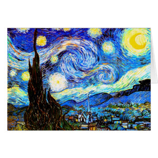 Cartes Beaux-arts de nuit étoilée de Van Gogh