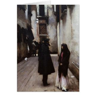 Cartes Beaux-arts vénitiens de rue peignant John Sargent