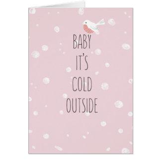 Cartes Bébé, c'est Noël romantique d'hiver d'extérieur