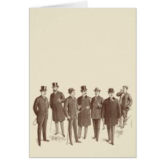 Cartes Beige vintage de Brown de la mode des hommes de